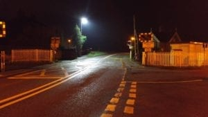 LED Street Light at Whittington Level Crossing