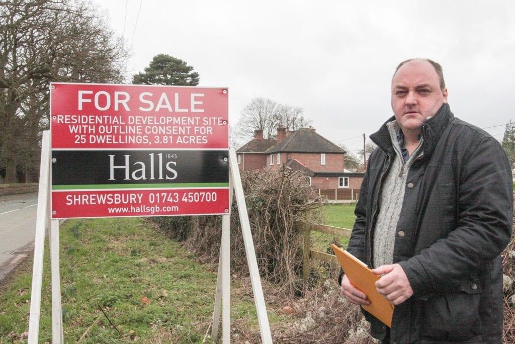 David Walker by another unplanned site in West Felton in 2017