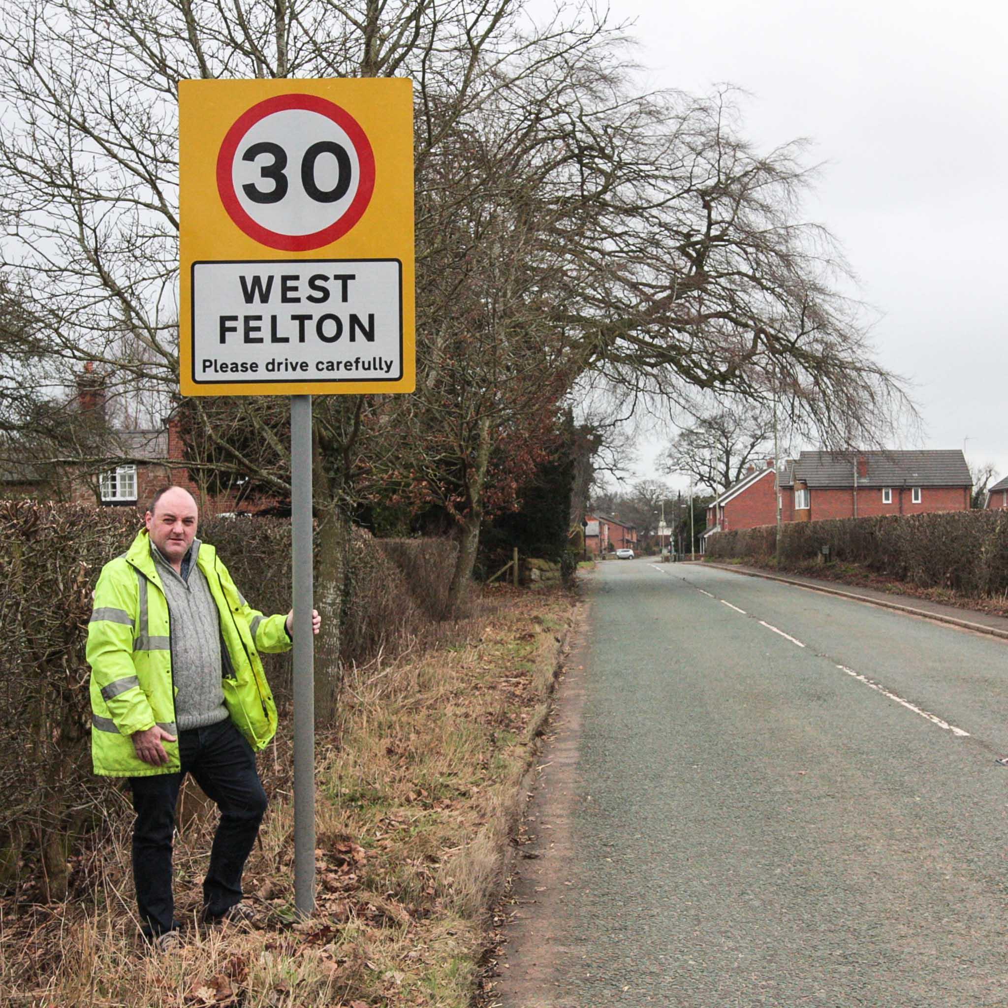 David Walker in West Felton