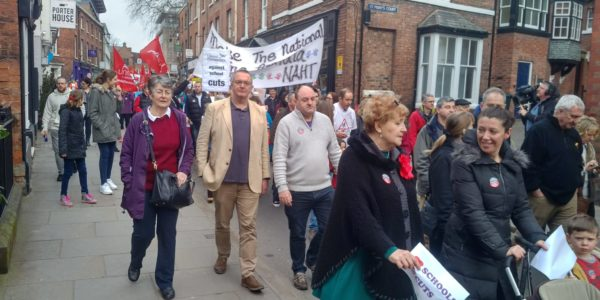 Education march against Conservative cuts