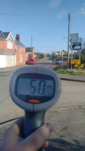 Just one of the highest speeds recorded in Queens Head - the highest was 52 in that session