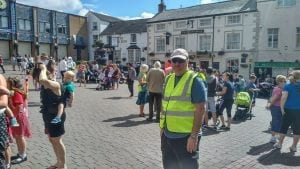 Oswestry Maternity Unit saga drags on. David Walker marshalling at the 2nd march against closures last year