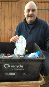 David Walker, campaigning for better recycling and reuse of plastics thinks plastic roads may well be an answer for that and our pothole problems and wants Shropshire Council to investigate it