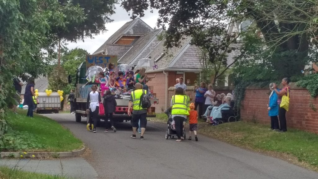 Residents and staff at The Court enjoying the Carnival parade in 2017. The Court closure could spell the end for heartwarming moments like these
