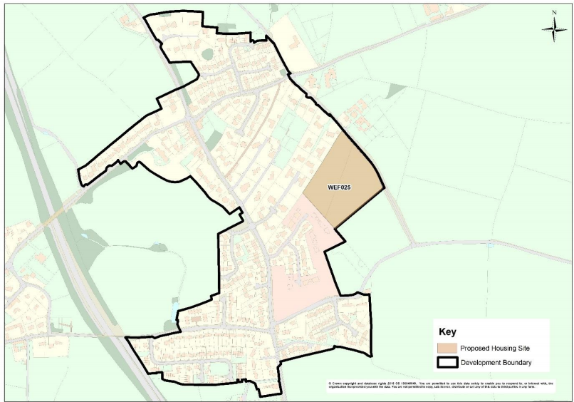 proposed housing site in West Felton for the period up to 2036