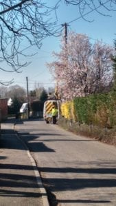 It was great to see Highline Electrical LTD out finishing the street light upgrades to LED last February with their cherry picker