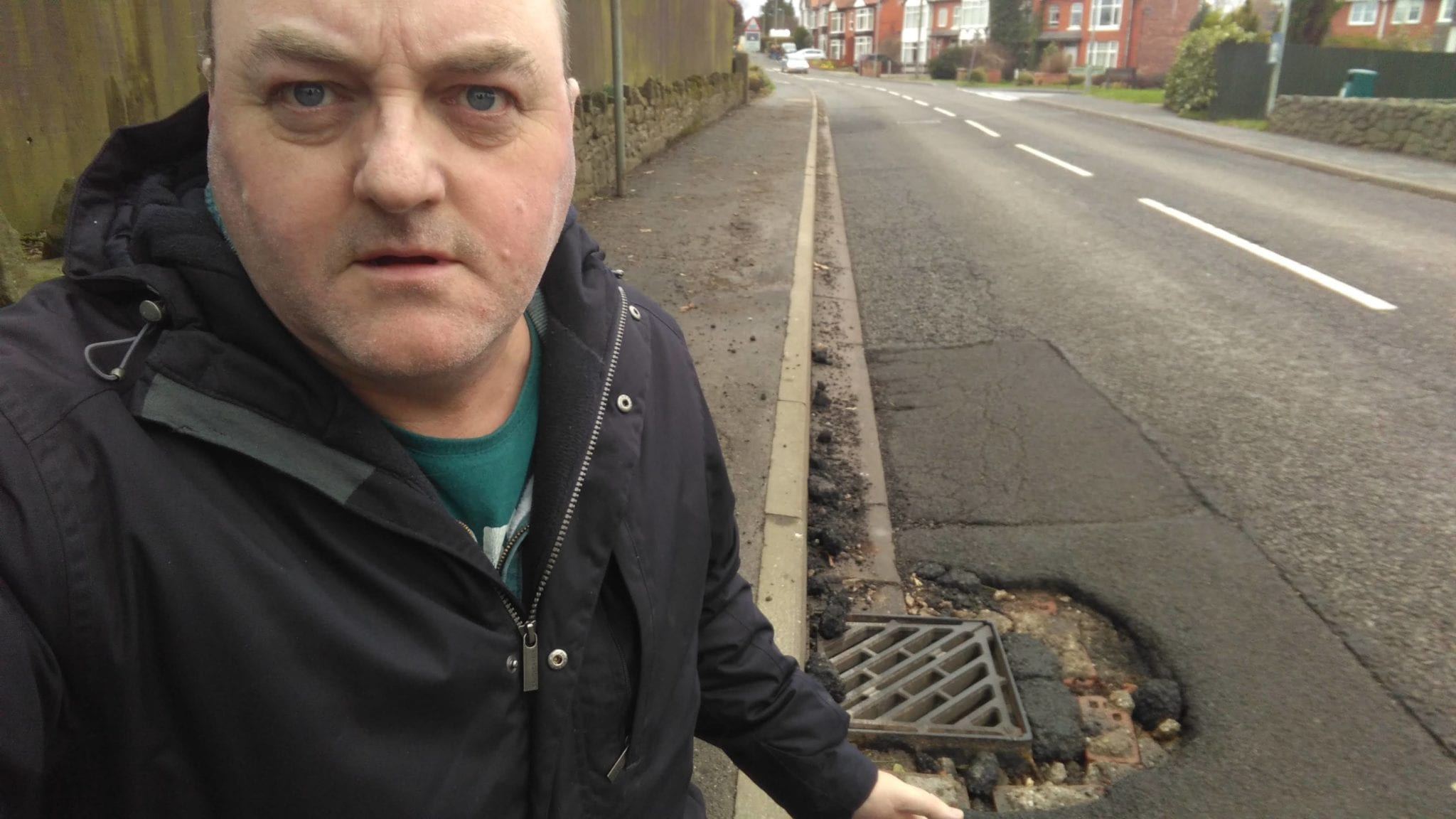 Dangerous Pothole on Station Road