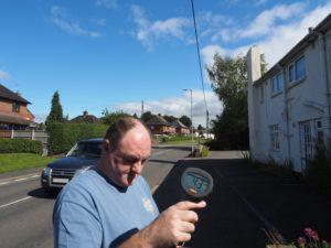 Traffic speed survey on Ellesmere Road, Whttington