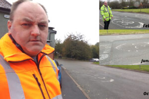 Queens Head fading road markings 2020-2k