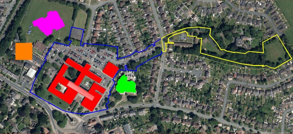 relocating shire hall - building footprint comparison